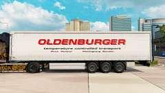 Skin Oldenburger curtain semi-trailer for Euro Truck Simulator 2