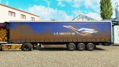 Skin J. S. Logistik AG on a curtain semi-trailer