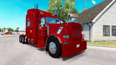 Skin Carolina Tank Lines for the truck Peterbilt 389 for American Truck Simulator
