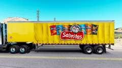 Skin Sabritas on a curtain semi-trailer