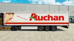 Auchan skin for curtain semi-trailer