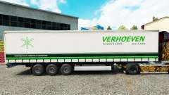 Skin Verhoeven on a curtain semi-trailer