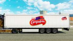 Skin Campofrio on a curtain semi-trailer for Euro Truck Simulator 2