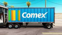Skin Comex in an all-metal trailer
