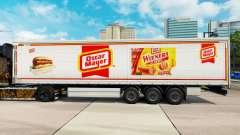 Skin Oscar Mayer curtain semi-trailer for Euro Truck Simulator 2