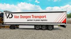 Skin Van Dongen Transport semi-trailer curtain