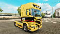 The skin of the Caterpillar tractor Scania for Euro Truck Simulator 2
