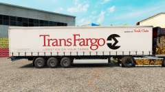 Skin Trans Fargo on a curtain semi-trailer