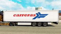 Skin Carreras on a curtain semi-trailer for Euro Truck Simulator 2