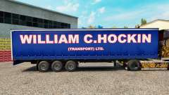 The William C. Hockin skin on the trailer curtai