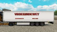 Skin Vroegindewey curtain semi-trailer