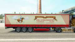 Skin Frank de Ridder on a curtain semi-trailer