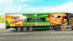 Skin Peria on a curtain semi-trailer for Euro Truck Simulator 2