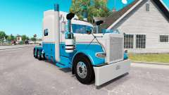 Skin Baby Blue and White for the truck Peterbilt