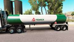 Skin v3 Pemex gas semi-tank for American Truck Simulator