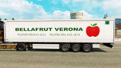 Skin Bellafrut Verona on curtain semi-trailer for Euro Truck Simulator 2