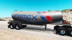 Skin Cemex to semi-tank for cement