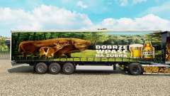 Skin Zubr on a curtain semi-trailer for Euro Truck Simulator 2