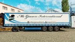 Skin Mc Geown on a curtain semi-trailer for Euro Truck Simulator 2