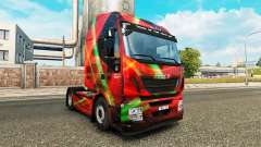 Red Effect skin for Iveco tractor unit for Euro Truck Simulator 2