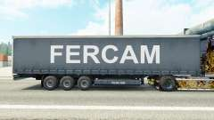 Fercam skin on the trailer curtain for Euro Truck Simulator 2