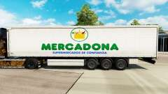 Skin Mercadona on a curtain semi-trailer