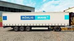 Skin ROHLIG SUUS Logistics on a curtain semi-tra