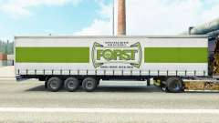 Skin Forst on a curtain semi-trailer