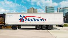 Skin Molinero Logistica on a curtain semi-trailer for Euro Truck Simulator 2