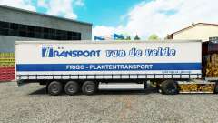 Skin Transport VdV on a curtain semi-trailer