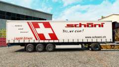 Skin Schoni on a curtain semi-trailer