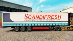 Skin Scandifresh on a curtain semi-trailer for Euro Truck Simulator 2
