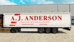 Skin A. J. Anderson on a curtain semi-trailer