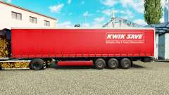 Skin Kwik Save on curtain semi-trailer