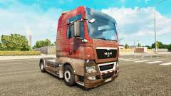 Skin Dirty on the truck MAN for Euro Truck Simulator 2