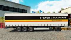 Steiner Transporte skin on the trailer curtain for Euro Truck Simulator 2
