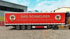 Skin Schwelmer on a curtain semi-trailer