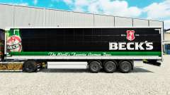 Skin Becks on a curtain semi-trailer for Euro Truck Simulator 2