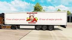 Skin Mariscos Recio on a curtain semi-trailer