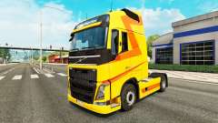 Yellow skin for Volvo truck