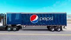 Skin Pepsi on a curtain semi-trailer