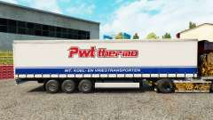 Skin PWT Thermo on a curtain semi-trailer for Euro Truck Simulator 2