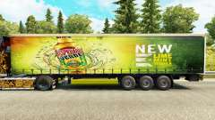 Skin Desperados on a curtain semi-trailer for Euro Truck Simulator 2