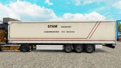 Skin STS curtain semi-trailer