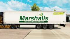 Skin Marshalls on a curtain semi-trailer for Euro Truck Simulator 2