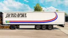 Skin Jp. Vis & Zn. on a curtain semi-trailer
