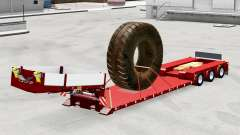 Low sweep with the load of large tires