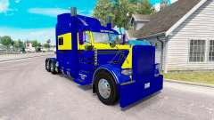 Skin Blue-yellow for the truck Peterbilt 389