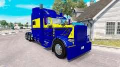 Skin Blue-yellow for the truck Peterbilt 389