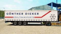 Skin Gunther Dieker on a curtain semi-trailer for Euro Truck Simulator 2